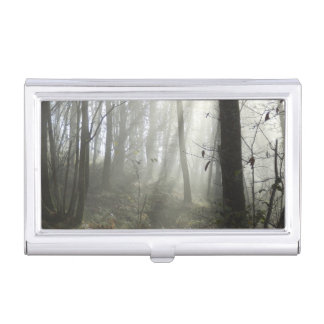 Woodland Morning Mist Business Card Holder