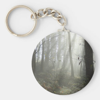 Woodland Morning Mist Key Ring