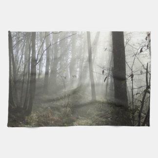 Woodland Morning Mist Tea Towel