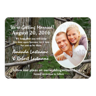 Woodland Nature 2016 Calendar Save the Date Card