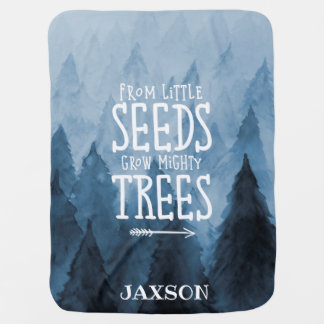 Woodland Nursery Personalized Message Blanket