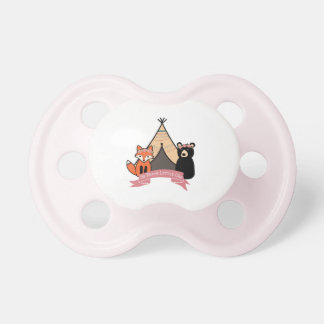 Woodland Pacifier for Baby Girl