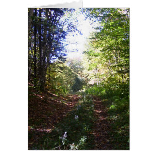 Woodland path in Fall Card