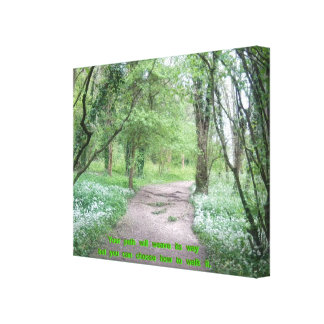 Woodland Path with Quote Canvas Print