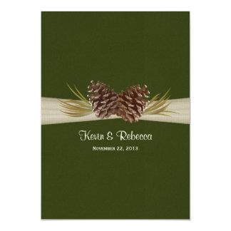 Woodland Pines Wedding 5x7 Paper Invitation Card