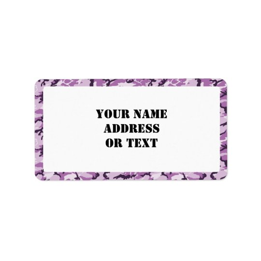 Woodland Pink/Purple Camouflage - with White Address Label
