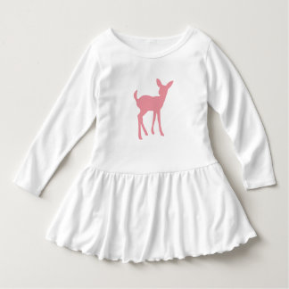 Woodland Princess Pink Deer Silhouette Dress