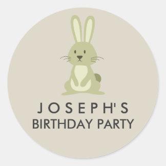 Woodland Rabbit Birthday Sticker