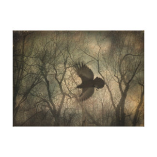 Woodland Raven Canvas Prints