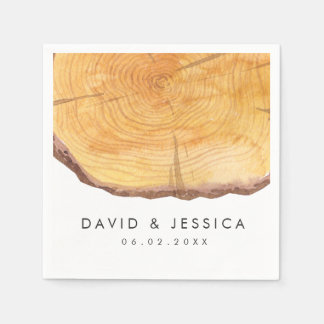 Woodland Rings | Wedding Custom Disposable Napkin