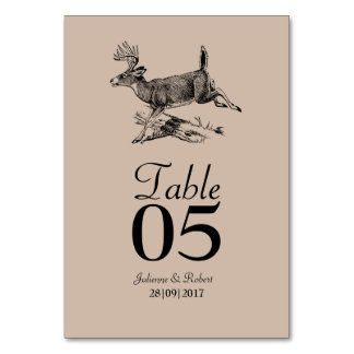Woodland | Rustic Deer Wedding Table Card