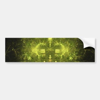 Woodland Spirit. Green & Black Fractal. Bumper Sticker