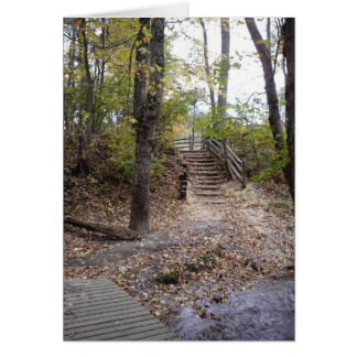 Woodland staircase card