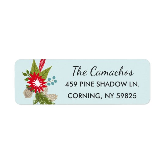 Woodland Style Holiday Address Labels