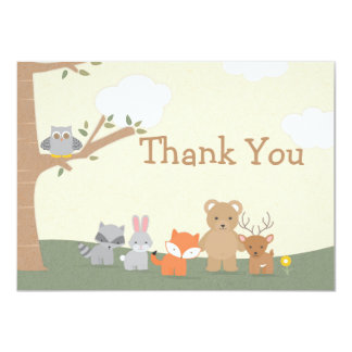 "Woodland ""Thank You"" Card"