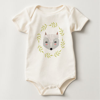 Woodland themed Organic Cotton Body Suit Baby Bodysuit