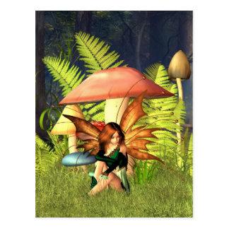 Woodland Toadstool Fairy Postcard