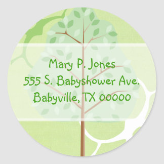 Woodland Tree Address Label Stickers