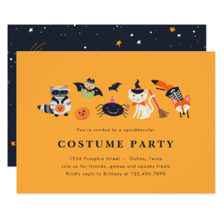 Woodland Trick or Treaters Card