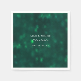 Woodland Tropical Deep Green Greenery Cali Wedding Disposable Napkin