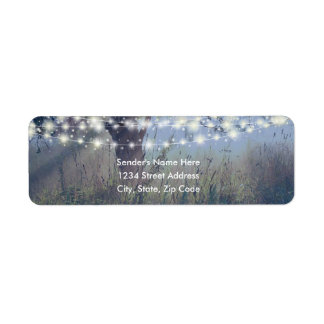 Woodland Twilight Fairy Lights Address Labels