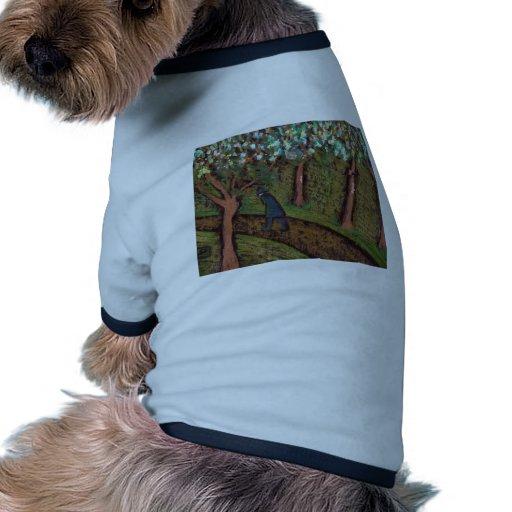 woodland walk digitally altered pet clothing