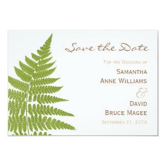 Woodland Wedding Fern Save the Date Card