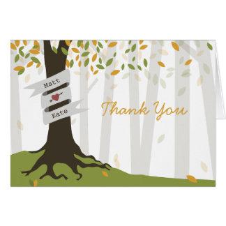 Woodland Wedding Thank You - Early Autumn Card