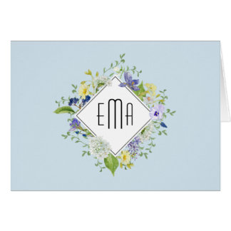 Woodland Wildflowers with Your Monogram Card