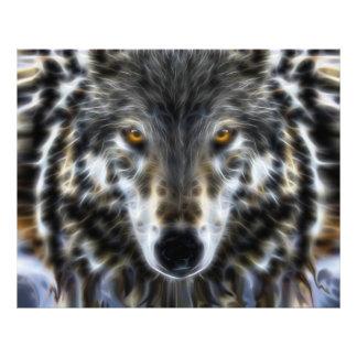 Woodland Wolf Inspirational Portrait Photographic Print