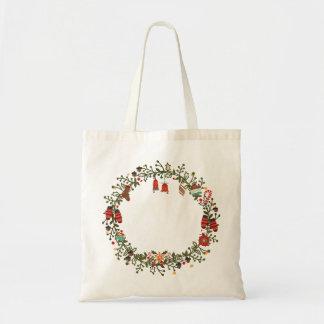 Woodland Wreath Tote Budget Tote Bag