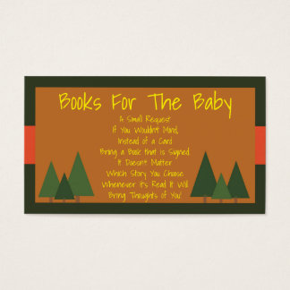 Woodlands Baby Shower Bring A Book Insert