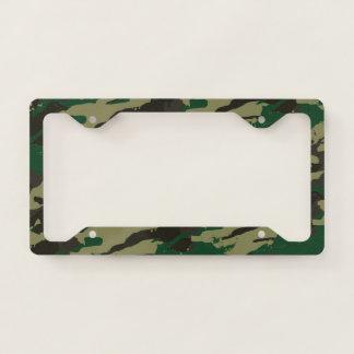 Woodlands camouflage licence plate frame