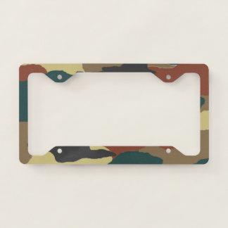Woodlands Green Camouflage License Plate Frame