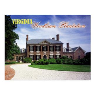 Woodlawn Plantation, Virginia Postcard