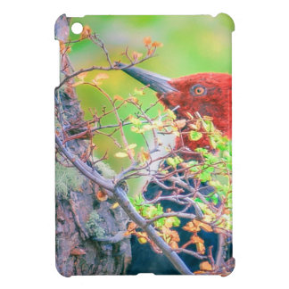 Woodpecker at Forest Pecking Cover For The iPad Mini