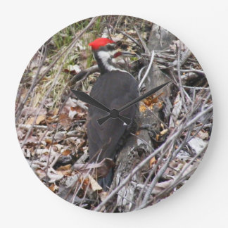 Woodpecker Bird Large Clock