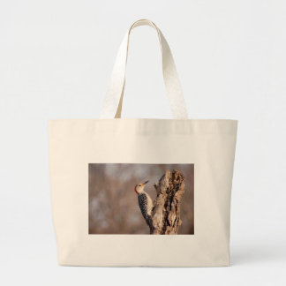 Woodpecker Large Tote Bag