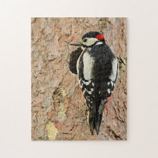 woodpecker on his tree jigsaw puzzle