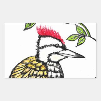 Woodpecker Rectangular Sticker