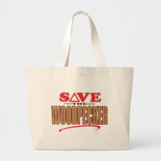 Woodpecker Save Large Tote Bag