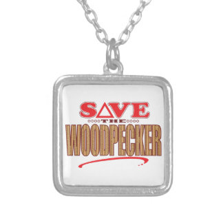 Woodpecker Save Silver Plated Necklace