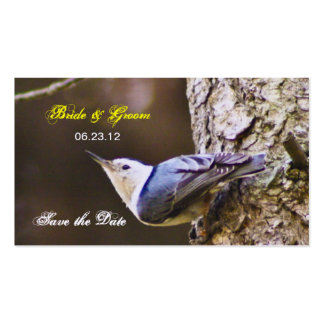 Woodpecker Save The Date Bookmark Business Card Template