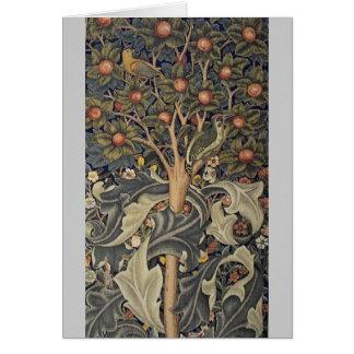 Woodpecker tapestry card