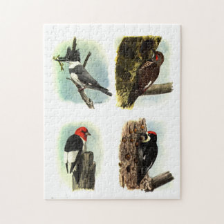 "Woodpeckers 11"" x 14"" Puzzle with Gift Box"