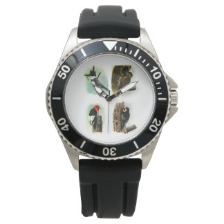 Woodpeckers Stainless Steel Watch