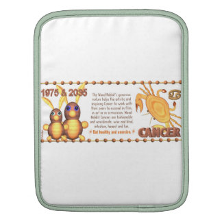 WoodRabbit zodiac 1975 born Cancer by Valxart Sleeves For iPads