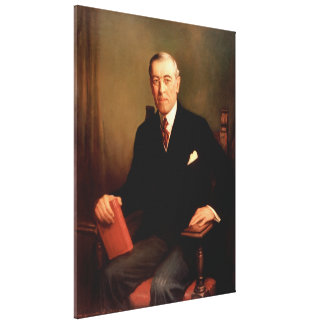 WOODROW WILSON Portrait by Frank Graham Cootes Canvas Print