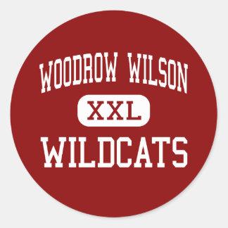 Woodrow Wilson - Wildcats - High - Dallas Texas Round Sticker