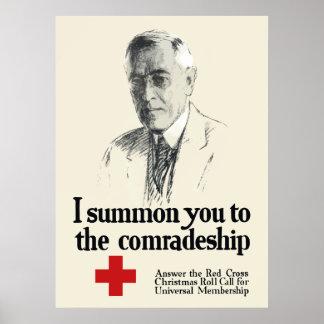 Woodrow Wison Red Cross Poster